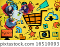 Online Marketing Strategy Branding Commerce Advertising Concept 16510093