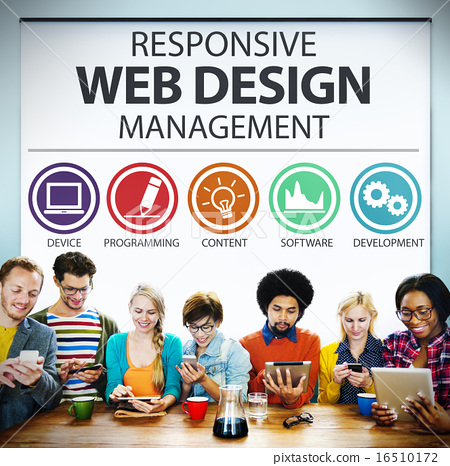 Stock Photo: Responsive Web Design Management Programming Concept