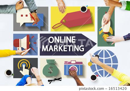 Online Marketing Branding Global Communication Analysing Concept 16513420