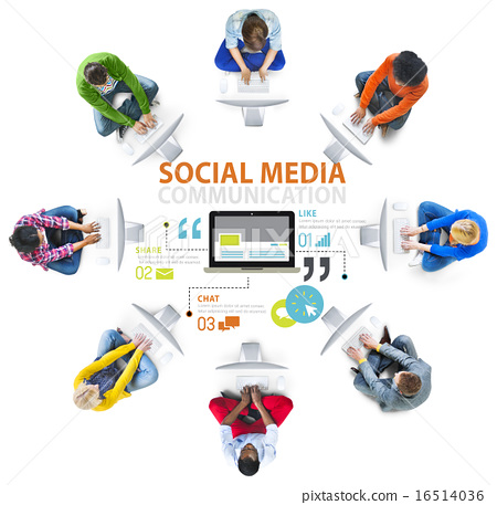 Social Media Social Networking Technology Connection Concept 16514036