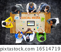 Social Media Social Networking Technology Connection Concept 16514719