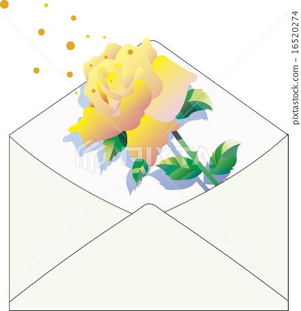 Yellow rose card 16520274
