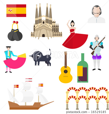 Spanish symbols, signs and landmarks 16529185