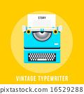 vector, typewriter, vintage 16529288