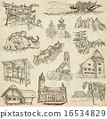 Architecture, Places - Pack of freehand sketches 16534829