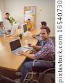 Creative casual businessman in wheelchair 16540730