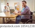 Creative casual businessman in wheelchair 16541238