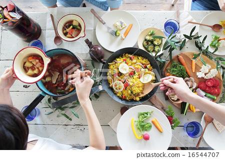 有机食品午餐家庭聚会 16544707