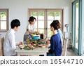 有機食品午餐家庭聚會 16544710