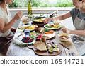 オーガニックフードランチ ホームパーティー 16544721