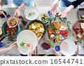 有機食品午餐家庭聚會 16544741