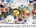 有机食品午餐家庭聚会 16544749