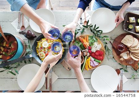 有機食品午餐家庭聚會 16544758