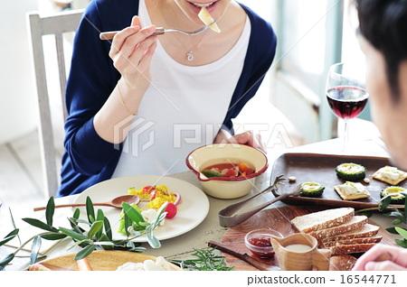 有機食品午餐家庭聚會 16544771
