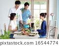 有機食品午餐家庭聚會 16544774