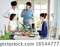 有機食品午餐家庭聚會 16544777