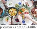 有机食品午餐家庭聚会 16544802