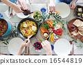 有机食品午餐家庭聚会 16544819