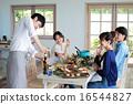 家庭聚會 吃 飲食 16544827