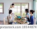 有机食品午餐家庭聚会 16544874
