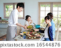 有机食品午餐家庭聚会 16544876