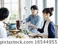 家庭聚会,用餐 16544955