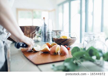 水果 厨房刀 切 16544972