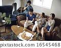 家庭聚會 朋友 披薩 16545468