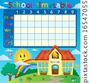 School timetable with school building 16547055