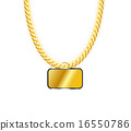 vector, jewelry, gold 16550786
