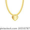 vector, jewelry, gold 16550787