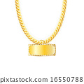vector, jewelry, gold 16550788