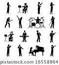 silhouette, musician, music 16558864