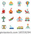 Amusement park icons set 16559294