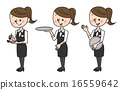 店員 女服務員 夫人 16559642