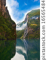 峡湾 瀑布 挪威 16565484