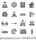 set, icons, pizzeria 16566159
