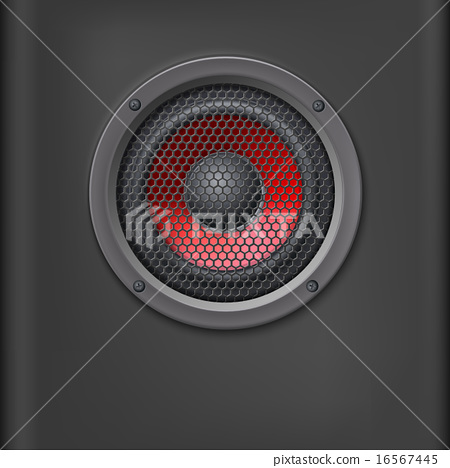 Sound speaker with grille. 16567445