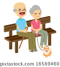 Senior Couple With Dog 16569460