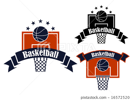 Basketball sporting symbols with sport items 16572520
