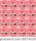 coffee cup and coffee kettle seamless pattern 16574520