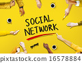 Social Network Media Internet Online People Sharing Concept 16578884