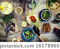 Food Table Healthy Delicious Organic Meal Concept 16578960