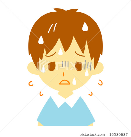 Child dehydration symptoms Blue face - Stock Illustration
