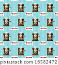 coffee machine and coffee cups seamless pattern 16582472