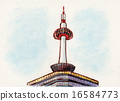 Kyoto Tower Illustration 16584773