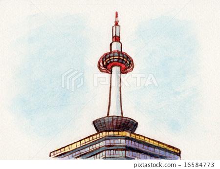 Kyoto Tower Illustration 16584773