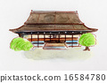 Kyoto Imperial Palace hand-painted illustration 16584780