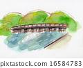 교토 아라시야마도 케츠 교우 손으로 그린 일러스트 16584783