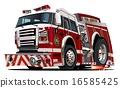 救火车 卡通 矢量 16585425
